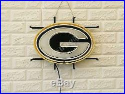 Green Bay Packers Beer Light Lamp Neon Sign 20 With HD Vivid Printing