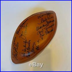 Green Bay Packers & Chicago Bears Signed Football Ray Nitschke Gale Sayers