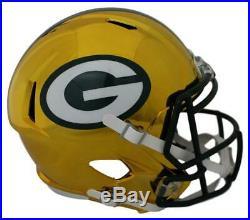Green Bay Packers Full Size Chrome Speed Replica Helmet New In Box 11662