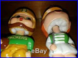 Green Bay Packers Kissing Pairs NFL/AFL/Bobbing Head/ Nodder/Bobble Head MINT