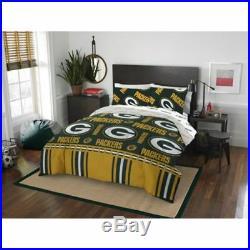 Green Bay Packers NFL Queen 5 Piece Comforter Bedding Team Logo Bed in Bag Set