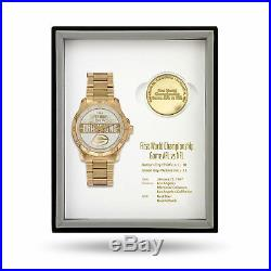 Green Bay Packers Super Bowl Watch & Coin Gift Set Limited 50 sets MSRP $375