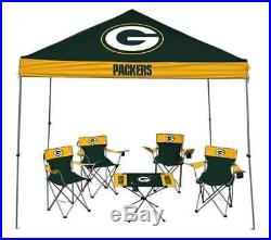 Green Bay Packers Tailgate Kit Canopy 4 Chairs Table