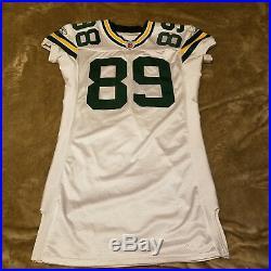 James Jones #89 2007 Rookie Jersey Green Bay Packers Game Cut Worn Used NFL