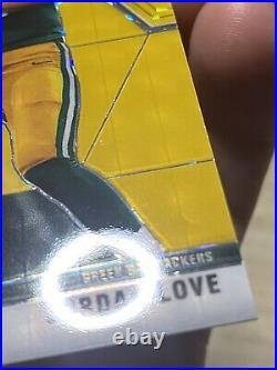 Jordan Love Mosaic Gold Fluorescent /20 Rookie Card Green Bay Packers Panini