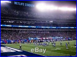New York Giants vs Green Bay Packers 2 tickets. Lowers Sec 144 Row 7 + Parking
