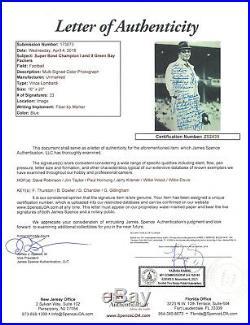 PACKERS Vince Lombardi team signed 16x20 photo 33 AUTOS Taylor Kramer Hornug JSA
