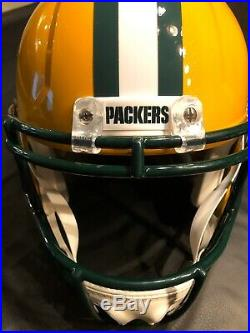 Packers AARON JONES Signed Full Size Riddell Speed Replica Helmet AUTO JSA