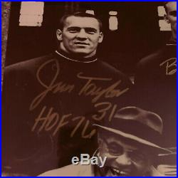 Packers BART STARR JIM TAYLOR PAUL HORNUNG & BOYD DOWLER Signed 16X20 Photo JSA