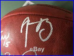 Packers Bart Starr, Favre, Aaron Rodgers Signed NFL Football JSA LOA Triple QB