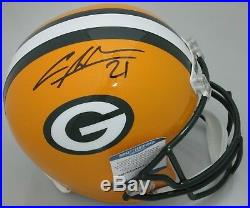 Packers CHARLES WOODSON Signed Full Size Replica Helmet AUTO Beckett