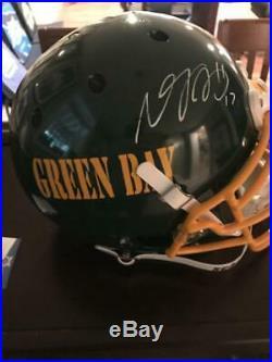 Packers Davante Adams Authentic Signed Full Size On Field Helmet COA Beckett