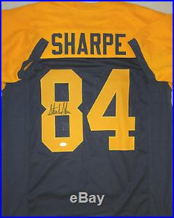 Packers STERLING SHARPE Signed THROWBACK Custom Jersey AUTO Pro Bowler JSA