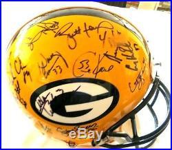 Packers Sb XXXI Reggie White Brett Favre Team Signed Autograph Football Helmet