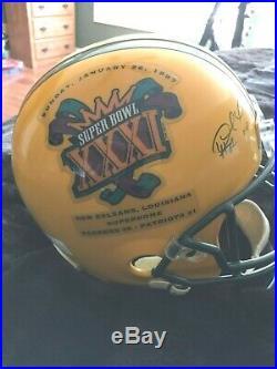 Packers Super Bowl 31 MVP Full Size Signed Helmet