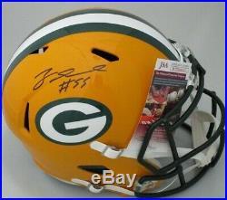 Packers ZADARIUS SMITH Signed Full Size Replica Speed Helmet AUTO JSA