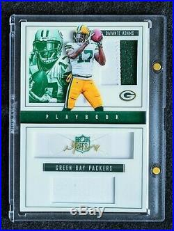 Play-Book Davante Adams Auto 2 Color Jersey Patch Booklet #/5, Packers 1/1