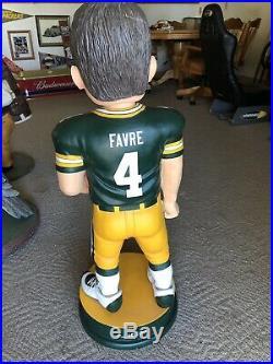 RARE Brett Favre Green Bay Packers 3 foot Bobblehead-Legends of The Field #5/100