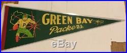 RARE Vintage 1950's Green Bay Packers 29 Felt Pennant NOS W Sleeve