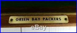 Rare Vintage 1960's Green Bay Packers Riddell Football Half Helmet Wall Plaque