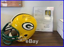Reggie White/ Brett Favre Green Bay Packers Autographed Helmet COA