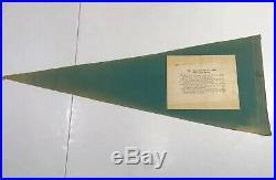 Scarce 1967 Green Bay Packers Bart Starr Super Bowl Pennant Rare Nitschke