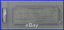 Vince Lombardi Signed Green Bay Packers Psa/dna Certified Autographed Check