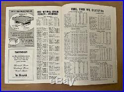 Vintage 1960 NFL Green Bay Packers @ Philadelphia Eagles Championship Program