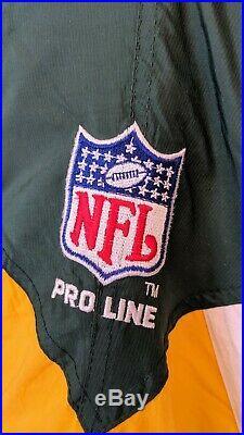 Vintage 90s Green Bay Packers Script Starter ProLine 1/2 Zip Pullover Jacket XXL