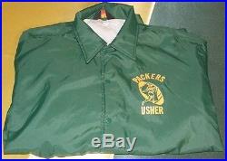 Vintage Green Bay Packers Lambeau Field Usher's Jacket