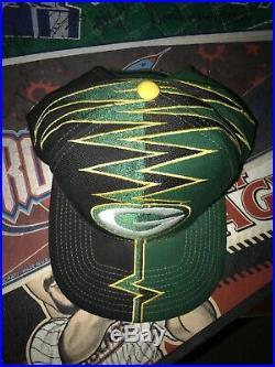Vintage Green Bay Packers Starter Slasher Darkside shockwave Strapback Hat Shock